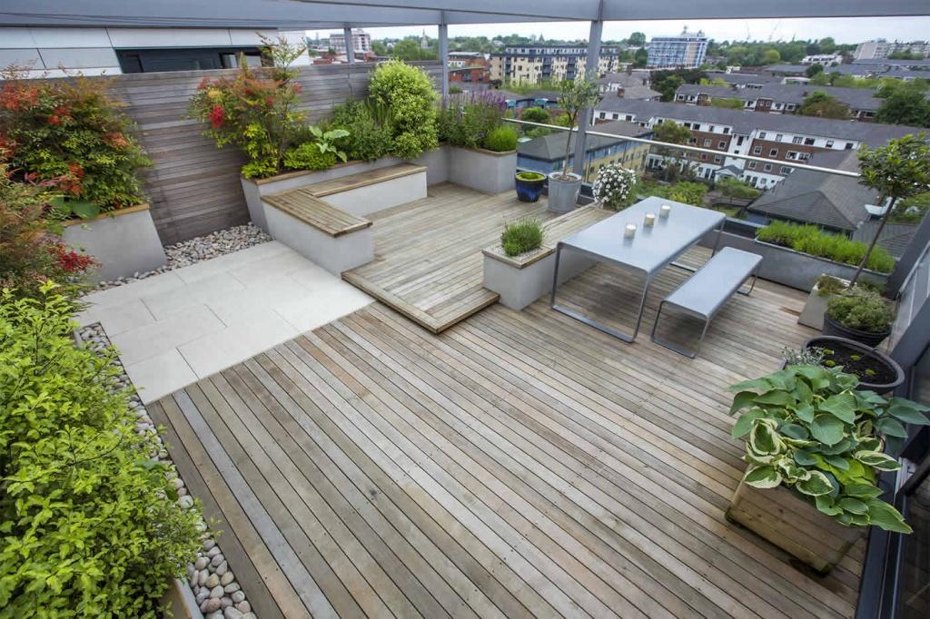 Крыши-террасы и кровли с зелеными зонами