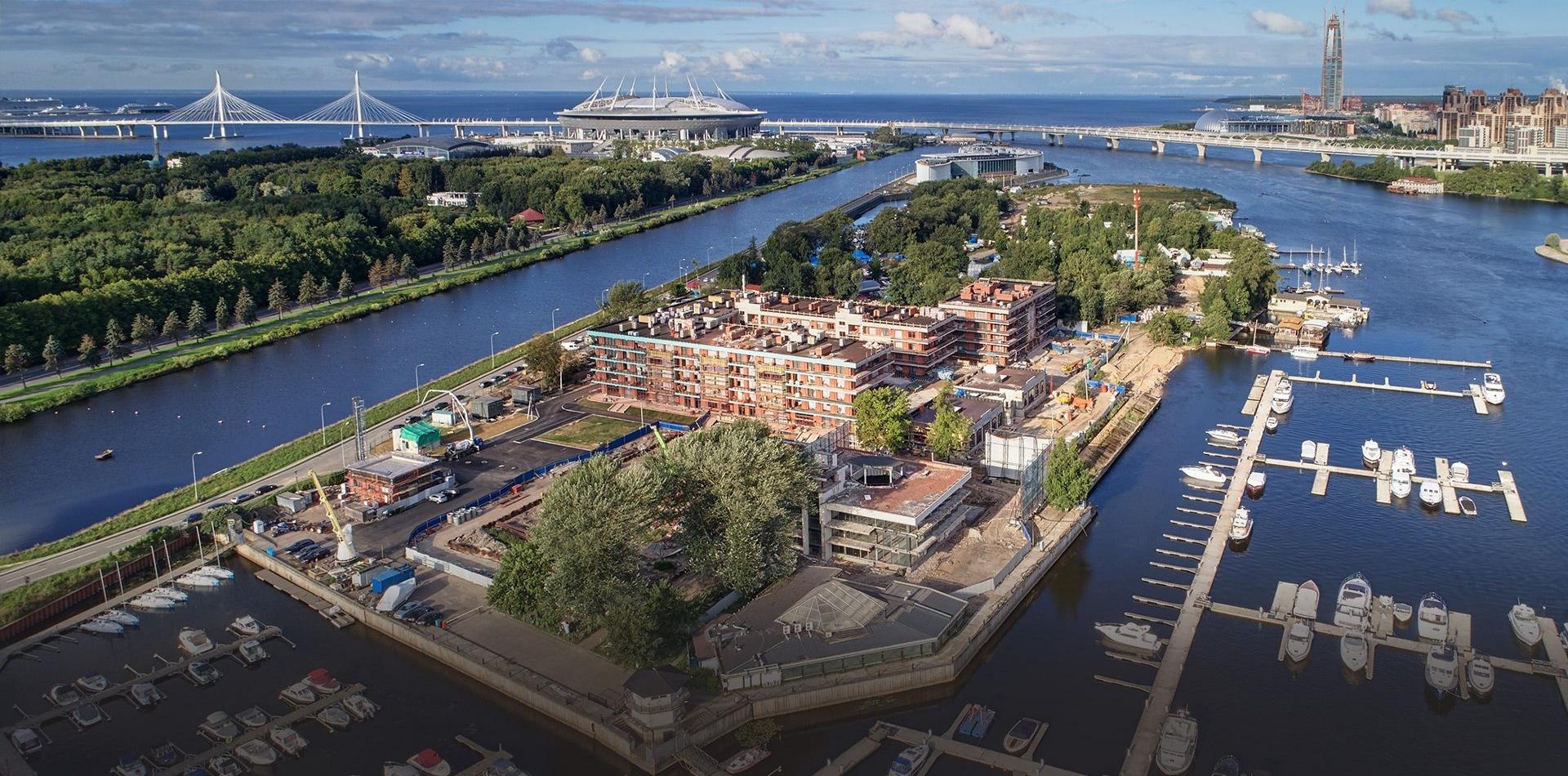 «Капитан, улыбнитесь»: новостройки СПб с причалами для яхт