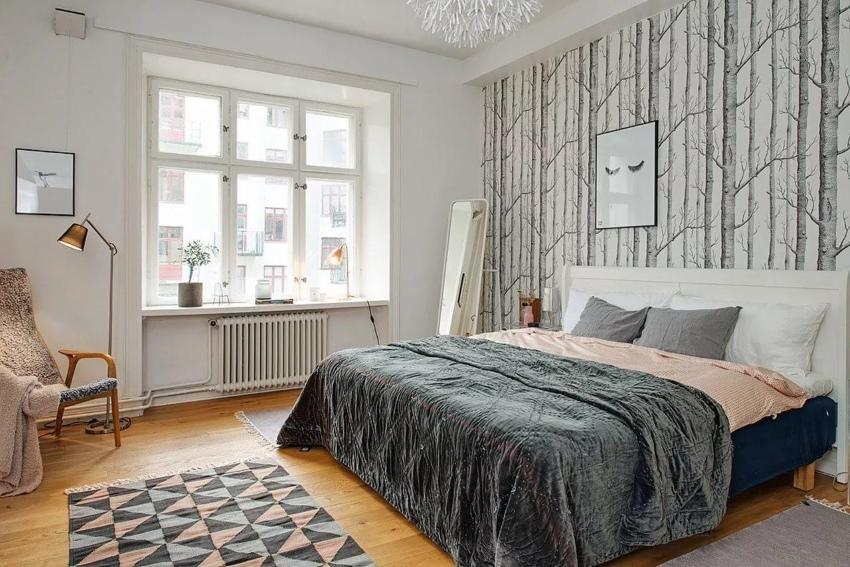 Элементы скандинавского стиля в спальне