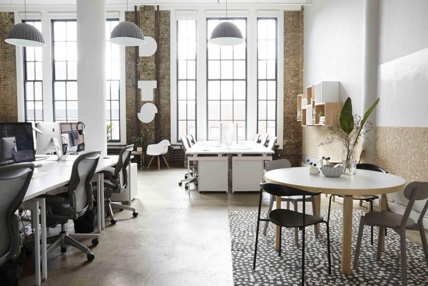 Сочетание стилей лофт и сканди в интерьере офиса