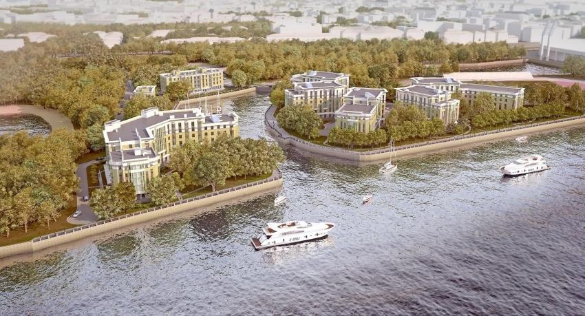 На фото – премиальный апарт-комплекс Royal Park на Петровском острове
